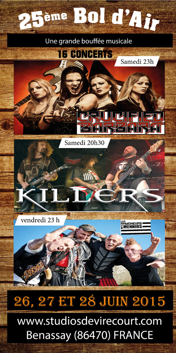 25ème bol d'air concentre moto benassay killers concert 2015